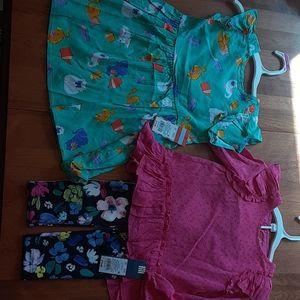 Toddler Girls 2 Outfits OshKosh & Cat & Jack BNWT